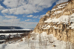 The Zhiguli Mountains Royalty Free Stock Photography