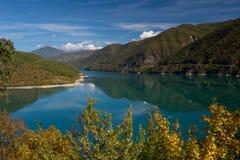 Zhinvali Reservoir on Araghvi river near Ananuri - Georgia Royalty Free Stock Photography