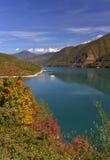 Zhinvali Reservoir in autumn season Stock Images