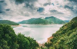 Zhinvali Reservoir In Georgia, On River Aragvi. It Has One Of The Largest Hydroelectric Power Stations In Georgia. Zhinvali Reservoir In Georgia, Dusheti Royalty Free Stock Photo