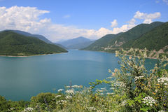 The Zhinvali reservoir (Georgia) Stock Photography