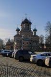 Zhivonachalnoj för Treenighetkyrka Moskva Ryssland, vår, mars Arkivfoto