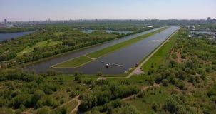 Zhivopisniy桥梁,莫斯科,俄罗斯 通风 股票录像