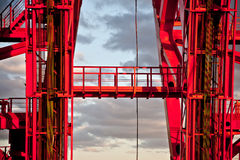 Zhivopisny桥梁 电缆坚持的桥梁 特写镜头 莫斯科 库存图片