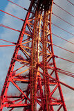 Zhivopisny Bridge. Cable-stayed bridge. Close-up. Moscow Royalty Free Stock Photo