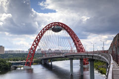 Zhivopisny Bridge. Moscow, Russia Royalty Free Stock Image