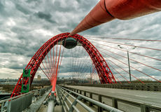 Zhivopisny bridge over the Moskva river, Moscow Royalty Free Stock Image