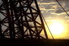 Zhivopisny bro Kabel-bliven bro moscow royaltyfri foto