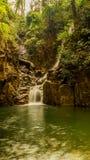 Zhivopistnyj falls in park Pliu in Thailand Royalty Free Stock Photo
