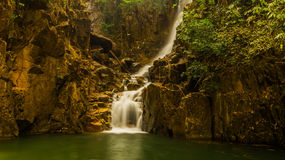 Zhivopistnyj falls in park Pliu in Thailand Stock Photo