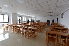 zhixinglou大厦新的教室在浙江菩萨学院,多孔黏土rgb 免版税库存照片