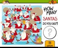 Zählung von Weihnachtsmann-Tätigkeit Lizenzfreies Stockbild