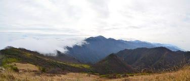 Zhong Nan Mountains With Clouds Fotografia Stock