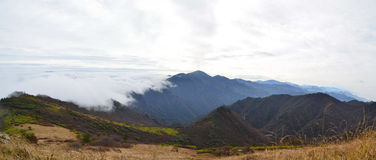 Zhong Nan Mountains  With Clouds Stock Photography