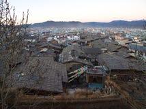 Zhongdian o ciudad vieja de Shangri-La Viaje en la ciudad de Zhongdian, Yunn fotografía de archivo libre de regalías