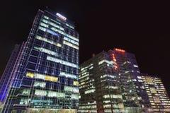 Zhongguancun office buildings at night, Beijing, China Stock Photos