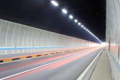 Zhonggushan高速公路隧道 免版税库存照片