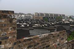 Zhonghua port och Nanjing City horisont, Kina Arkivbilder