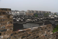 Zhonghua-Tor und Nanjing City-Skyline, China Stockbilder
