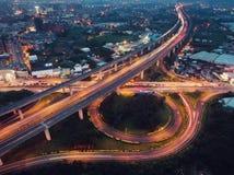 Zhongli wymiany widok z lotu ptaka - Kupczy pojęcie wizerunek, panoramiczny ptaka oka widoku use truteń Fotografia Royalty Free