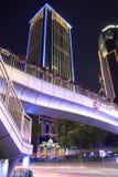 Zhongmin byggnad på natten Arkivfoto