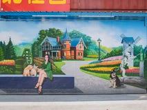 Zhongquan het communautaire 3D kunst schilderen Royalty-vrije Stock Fotografie