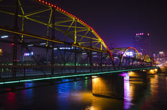 Zhongshan Bridge Night Stock Photography