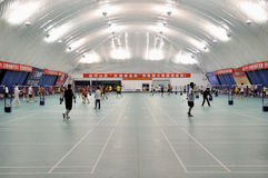 Zhongshan,china: badminton hall Royalty Free Stock Photos