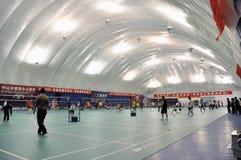 Zhongshan, China: badminton zaal Royalty-vrije Stock Afbeeldingen