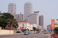 Cityscape van Zhongshan, China Royalty-vrije Stock Foto's