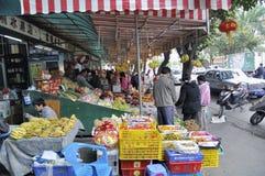 Zhongshan,china: street market Royalty Free Stock Photos