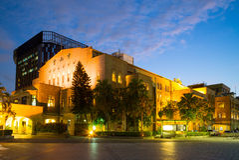 Zhongshan Hall in Taipei city. Night view of Zhongshan Hall Royalty Free Stock Photography