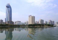 Zhongshan hospital and kempinski hotel Royalty Free Stock Photography