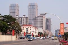 Cityscape av Zhongshan, Kina Royaltyfria Foton