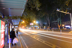 Zhongshan-Oststraße, Nanjing, China Lizenzfreies Stockbild