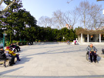 Zhongshan Park rest area Stock Photography