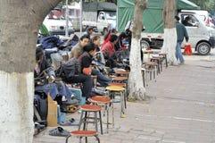 Zhongshan, trabalhador na rua Fotos de Stock Royalty Free