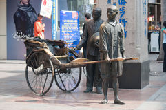 Zhongshan,Tricycle bronze Stock Images