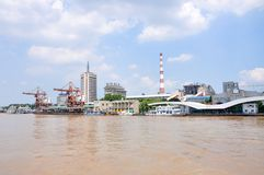 Zhongshan Wharf, Nanjing, China Stock Photo