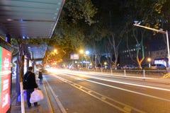 Zhongshan Wschodnia droga, Nanjing, Chiny Obraz Royalty Free