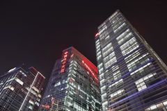 Zhonguancun office buildings at night, Beijing, China. BEIJING-NOV. 14. Zhonguancun office buildings at night time. With 12,000 high-tech enterprises throughout Royalty Free Stock Image
