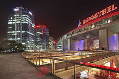 Zhonguancun office buildings at night, Beijing, China royalty free stock image