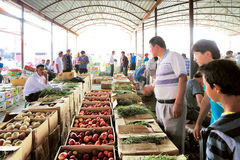 Zhongxiya Shichang is a popular market in Kashgar, Xinjiang province western China. Royalty Free Stock Photography