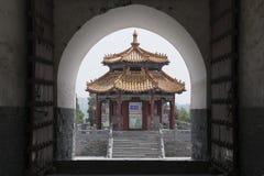 Zhongyue-Tempel in Dengfeng-Stadt, Zentralchina Stockbild