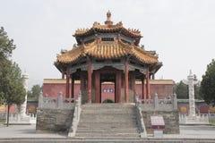 Zhongyue tempel i den Dengfeng staden, centrala Kina Arkivbilder