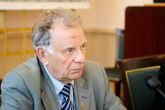 Zhores Alferov, Nobel Prize Winner in Physics 2000. St. Petersburg, Russia - JUNE 16: Zhores Alferov, Nobel Prize Winner in Physics 2000, Rector of Academic Stock Photo
