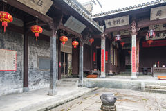 Zhou family ancestral hall Royalty Free Stock Photos