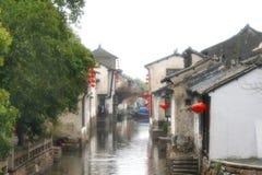 Zhou zhuang (Zhou's Town). (soft diffuser on the camera len Stock Image