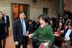 Zhou Zuyi y Zhang Linyi Fotos de archivo libres de regalías