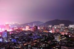 Zhouhai City by night Royalty Free Stock Photo